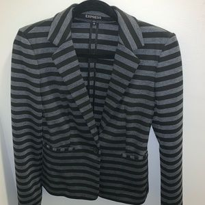 Express Jackets & Coats - Black and grey stripped express blazer